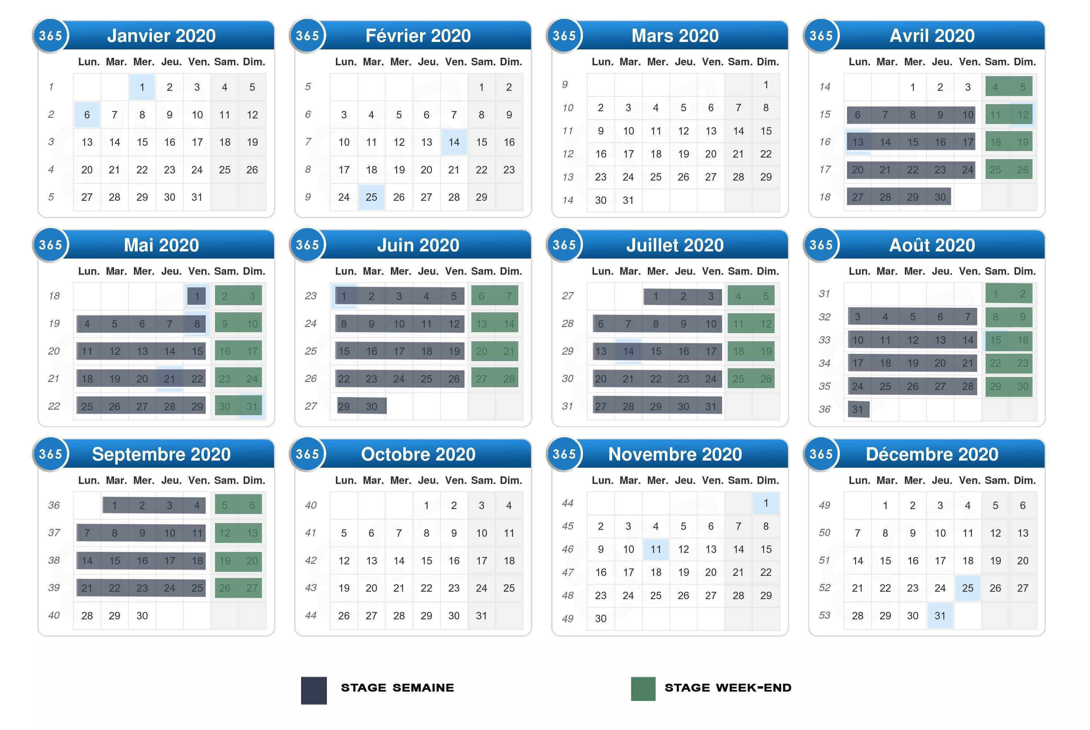 Achat Calendrier 2020.Calendrier 2020 Stage Voile 5 Oceans Sailing